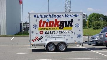 Kühlwagen bzw. Kühlanhänger mieten in Hildesheim bei trinkgut Hildesheim